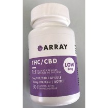 Array 1:1 Low Dose Capsules - 5mg THC / 5mg CBD (30 Count Bottle)