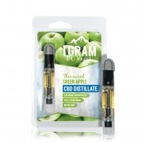 BC Vapes Full Spectrum CBD Cartridge - Green Apple (CBD)