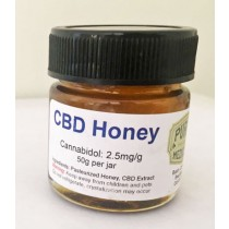 CBD Honey - 2.5mg CBD/per gram (50 Gram Jar)