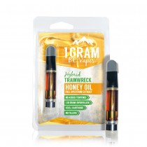 BC Vapes Cartridge - Full Spectrum Honey Oil - Trainwreck (Hybrid)