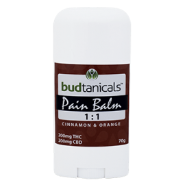 Budtanicals Pain Balm 1:1 (200mg THC & 200mg CBD) - Cinnamon & Orange