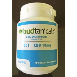CBD Dominant Coconut Oil Capsules - 10mg CBD (10-pack)