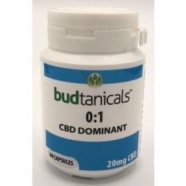 Budtanicals CBD Dominant 0:1 Capsules - 20mg CBD (60 Count Bottle)
