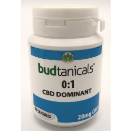 Budtanicals CBD Dominant 0:1 Capsules - 20mg CBD (90 Count Bottle)