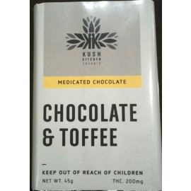 Kush's Kitchen Chocolate & Toffee Bar (200mg THC)