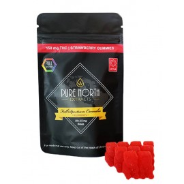 PN Full Spectrum Gummies - Strawberry - Sativa (150mg THC)