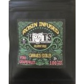Hoots Pink Grapefruit - Rosin Infused Gummy (100mg THC)