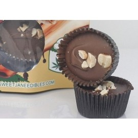 CBD Mini Peanut Butter Milk Chocolate Saucers (200mg CBD per Pack)
