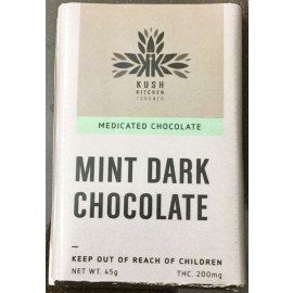 Kush's Kitchen Mint Dark Chocolate Bar (200mg THC)