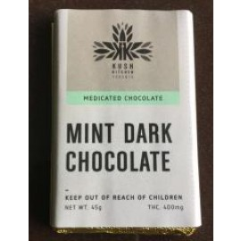 Kush's Kitchen Mint Dark Chocolate Bar (400mg THC)