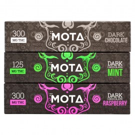 MOTA Dark Chocolate Bar - Raspberry (300mg THC)