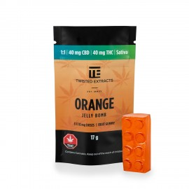 Orange 1:1 Jelly Bomb (40mg THC:40mg CBD)