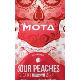 MOTA Sour Peaches - 100mg THC / 20mg CBD (Hybrid)