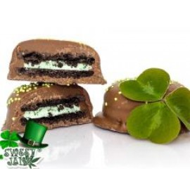 Milk Chocolate Mint Cream Cookies - 150mg THC per Package (2 x 75mg)
