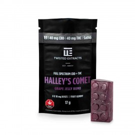 Grape 1:1 Halley's Comet Jelly Bomb – (40mg THC/40mg CBD)