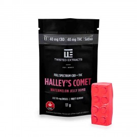 Watermelon 1:1 Halley's Comet Jelly Bomb – (40mg THC/40mg CBD)